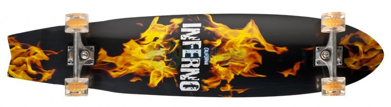 California Longboard Cruiser Skateboard - Inferno