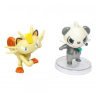 Pokemon Articulation figur - Meowth vs Pancham