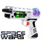SPACE WARS Gun med Lyd & LED Lys effekter - NO1