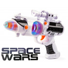 SPACE WARS Gun med Lyd & LED Lys effekter - NO2