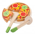 Legemad i træ fra New Classic Toys - Vegetar Pizza Legemad